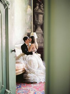 a intimate moment captured on film of a bride and groom sweet embrace. #wedding #photography
