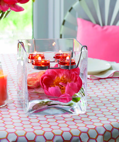 Clearly Creative™ Teelichthalter Glaswürfel / Portebougie à réchaud Clearly Creative™ Cube