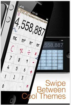 Calculator Pro for iPhone and iPod touch is designed for everyone looking for simplicity and functionality. You can enjoy using a standard calculator for basic operations or extend it into a scientific one for more complex calculations. Just tilt the device into landscape mode!