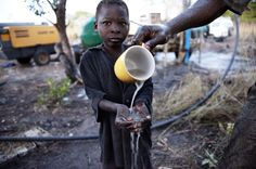 Safe Water and sanitation are essential to improving the health of children.