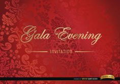 Vector elegant floral marriage invitation template red floral invitation card its a perfect vector design to use for gala evenings ceremonies special events or shows and more elegant occasions stopboris Choice Image