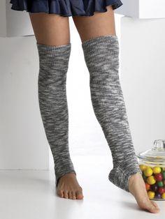 Footless Thigh-high Socks   Yarn   Free Knitting Patterns   Crochet Patterns   Yarnspirations