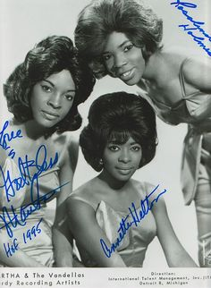 "Martha Reeves & The Vandellas    		Martha and the Vandellas (known from 1967 to 1972 as Martha Reeves and the Vandellas) were among the most successful groups in the Motown roster during the period 1963-1967. In contrast to Motown girl groups such as The Supremes and The Marvelettes, Martha and the Vandellas were known for a harder, R&B; sound, typified in ""(Love Is Like a) Heat Wave,"" ""Nowhere to Run,"" ""Jimmy Mack"" and, their signature song, ""Dancing in the Street."