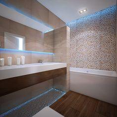 Ванная комната в экостиле  #interior #linedesign #design #екб #Екатеринбург #интерьеры #дизайн #дизайнпроект #экостиль #морскойстиль #галька #интерьерванны #дизайнванны #современныйстиль