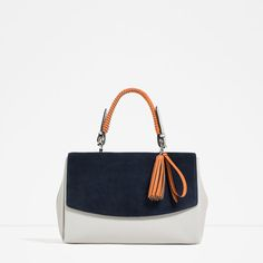 Zara City Bag with Charm Fringe Handbags, Leather Handbags, Small Handbags, Luxury Handbags, Ss16, Best Work Bag, Wholesale Tote Bags, Tote Bags Online, Shoes