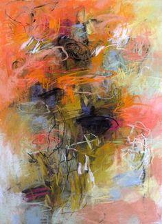 In the Garden pastel on paper 30x22 Debora Stewart - Pastel