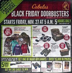 Cabela's Black Friday 2015 Ad Has Been Released! - http://yeswecoupon.com/cabelas-black-friday-2015-ad-has-been-released/?Pinterest