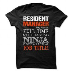 Resident Manager T Shirts, Hoodie. Shopping Online Now ==►…