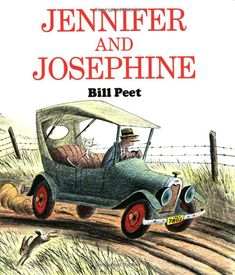 """Mentor Text. Bill Peet, using vivid verbs, again! """"The old car ripped through a haystack, sideswiped a henhouse, plowed through a pumpkin patch, uprooted a scarecrow, crashed through another fence, then bounced back onto the road..."""""""