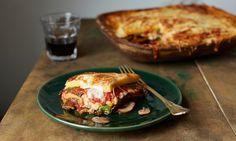 Vegetable polenta lasagne