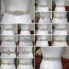 Stunning luxury wedding / bridal applique with high quality crystal rhinestones, beads, rhinestones and beads are all hand sewn. Perfect for bridal sash, belts, wedding accessories, bridal head piece, garters etc ~. | eBay!