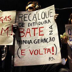 recalque!!! Protests in São Paulo Brazil