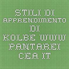 Stili di Apprendimento di Kolbe www.pantarei-cea.it