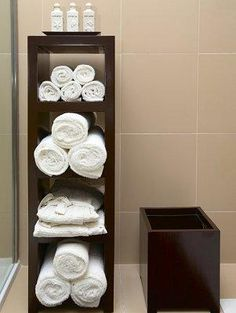 Towel storage ideas for bathroom 9 affordable bathroom decor ideas house bathroom accents bathroom home decor Bathroom Towel Storage, Towel Shelf, Towel Racks, Towel Holder, Bathroom Accents, Ideas Hogar, Bathroom Inspiration, Bathroom Ideas, Bathroom Updates