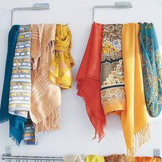 Kitchen to Closet...paper towel holders organize your scarves & belts