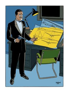 Colonel Olrik, the main antagonist of Blake and Mortimer, by André Juillard.