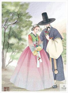 한복 HANBOK, Korean traditional clothes | Han Bok Illustration