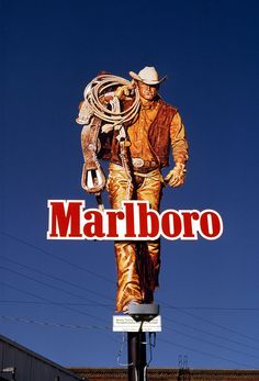 Famed vertical billboard along the Sunset Strip. It's the Marlboro Man! Marlboro Cowboy, Marlboro Man, Vintage Advertisements, Vintage Ads, Sunset Strip, Jackson Hole, Advertising Campaign, Billboard, Over The Years