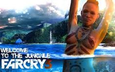 FarCry 3 is a great realistic graphical game. You can see in the background of this image, the environment looks beautilful. The water looks amazing, clear and clean. The clouds in the sky are getting cloudy notifying the player a storm is coming.