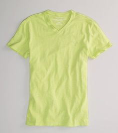 AE Slim Fit Solid V-neck T