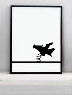 Flying Rabbit Screen Print