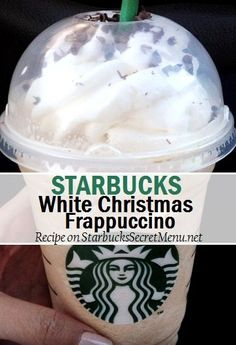 Vanilla frappe + white chocolate + peppermint syrup