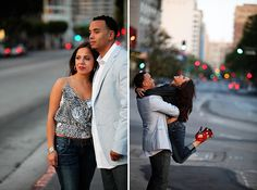 Sexy downtown Los Angeles engagement portrait session... #photography #engagement #portraits #Los Angeles