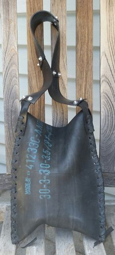 Recycled Tire Inner Tube Bag by PaxtonOriginal on Etsy