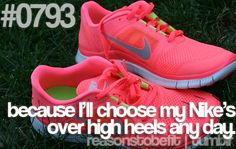 because I'll choose my Nike's over high heels any day :)  nowadays, yup! Like this.