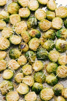 Garlic Parmesan Rosted Brussels Sprouts I The Food Cafe
