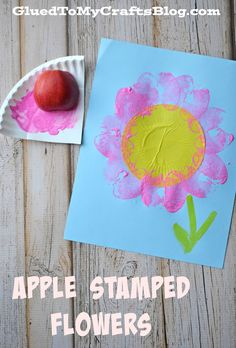 Apple Stamped Flowers {Kid Craft}