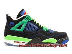 870191d2b9d3 Air Jordan 4 Retro Doernbecher Chaussures Nike Basket Pas Cher Pour Homme  Noir Vert 308497-