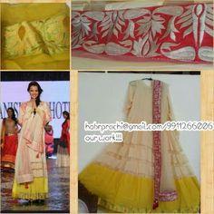 White Anarkali Suit  #Designer # Suit