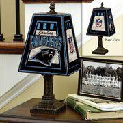 Carolina Panthers Art-Glass Table Lamp   Man Cave approved #UltimateTailgate #Fanatics