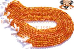 Carnelian Smooth Round (Quality C) Shape: Round Smooth Length: 36 cm Weight Approx: 10 to 12 Grms. Size Approx: 4.5 to 5 mm Price $2.10 Each Strand