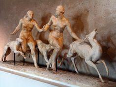 Diane et Actéon (1933) de Pierre TRAVERSE au musée de Mont de Marsan Antoine Bourdelle, Diane, All Art, Sculptures, Statue, Terracotta, Art, Bathing Beauties, Stone