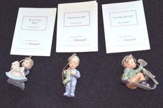 MINT-3pc-Studio-Hummel-Berta-Goebel-Ashton-Drake-Christmas-Ornaments-Set-20-COA