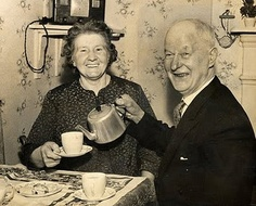 I hope we still love each other and drink tea together when we are 100. We love tea for two.