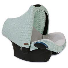 Babyschalen-Strickbezug 'Zopf uni' mint