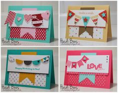 Stuck on Stampin': SS INK - banner cards!