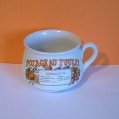 Tunbridge Wells, Vintage Pottery, Bowl, French Vintage, Mugs, Chicken, Vintage Ceramic, Tumblers, Mug
