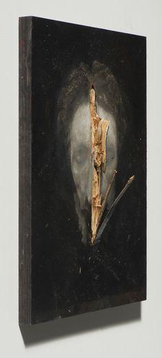Nicola Samori 2015, oil on wood, 40 x 30 x 5 cm