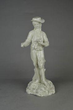 Figure; white porcelain; birdcatcher.