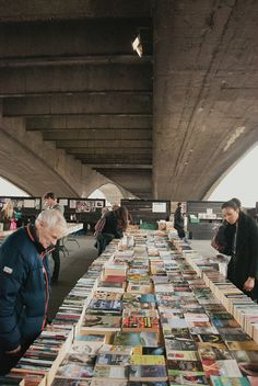 Book market under Waterloo Bridge, London SE1, 5th April 2014