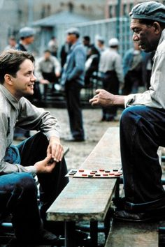 """**The Shawshank Redemption Tim Robbins, Morgan Freeman - Director: Frank Darabont IMDB: Two imprisoned men bond over a number of years, finding solace and eventual redemption through acts of common decency. """"Get busy living, or get busy dying. Film Music Books, Music Tv, Great Films, Good Movies, Thelma & Louise, Andy Dufresne, Movies Showing, Movies And Tv Shows, Seven 1995"""