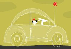 Dog, Cat, Bird in Car Photo at AllPosters.com