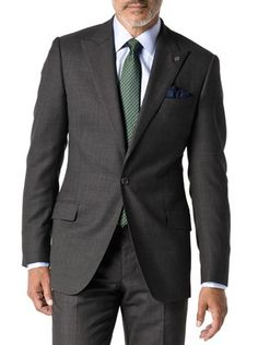 Charcoal Tonal Nailhead suit with JHilburn custom shirt, tie and pocket square. When you buy the suit, I have a gift for you as well. Yvette.Najarro@jhilburnpartner.com