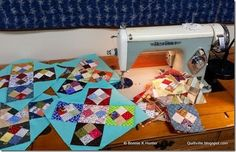 """APQ Quilt  made with squares with 1,5"""" for the Four Patch units"""