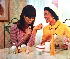 "Avon 1966.  *Such a ""Jackie O"" style look to this Avon Rep...styles of the times. :)"