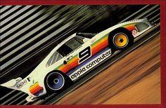 An Apple race car? Yes, please. (from a 1982 catalog) #geek #80s #logo #design #retro
